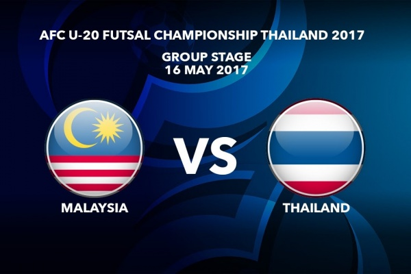 M09 MALAYSIA vs THAILAND - AFC U-20 Futsal Championship Thailand 2017