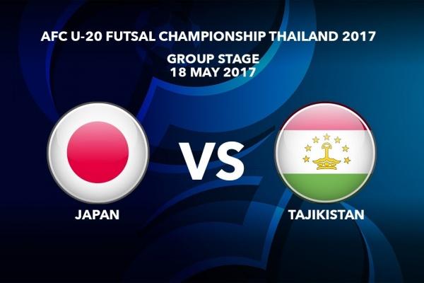 M26 JAPAN vs TAJIKISTAN - AFC U-20 Futsal Championship Thailand 2017
