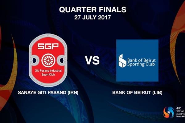 M20 - Sanaye Giti Pasand (IRN) vs Bank of Beirut (LIB)