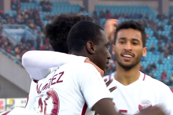 Almoez Ali equalises for Qatar against a 10 men China!