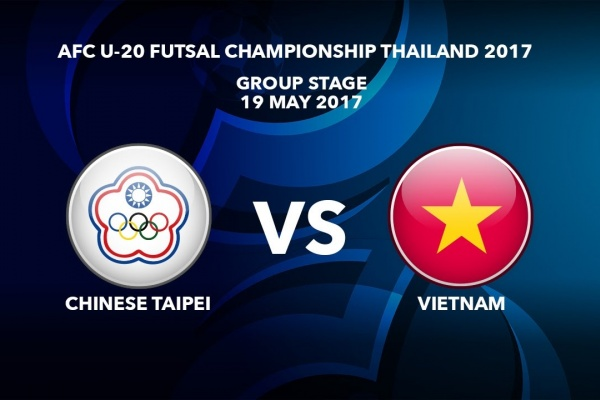 M35 CHINESE TAIPEI vs VIETNAM - AFC U-20 Futsal Championship Thailand 2017