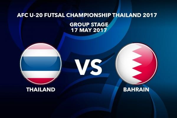 M18 THAILAND vs BAHRAIN - AFC U-20 Futsal Championship Thailand 2017
