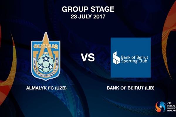 M10 - Almalyk FC (UZB) vs Bank of Beirut (LIB)