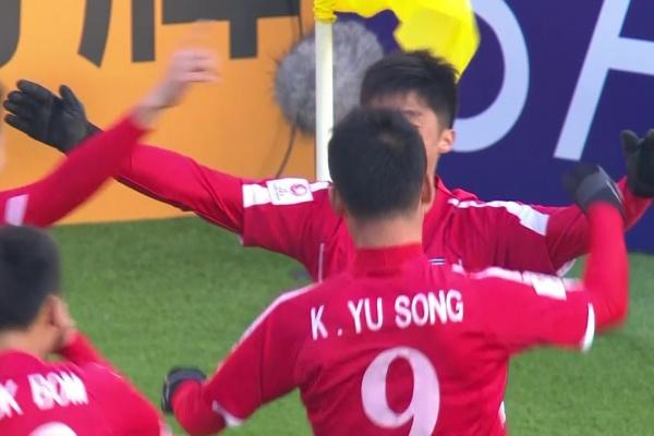 Ri Hun opens the scoring for DPR Korea against Thailand!