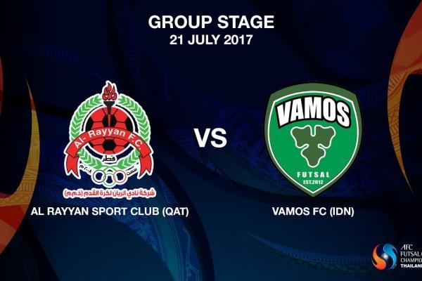 M05 - AL RAYYAN SPORT CLUB (QAT) vs Vamos FC (IDN) - Video News