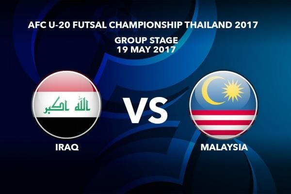 M32 IRAQ vs MALAYSIA - AFC U-20 Futsal Championship Thailand 2017