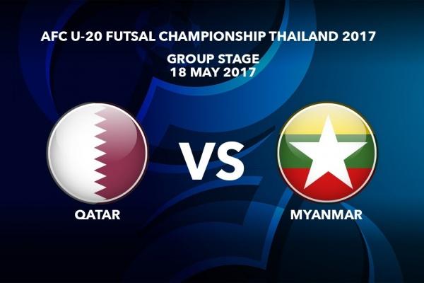 M21 QATAR vs MYANMAR - AFC U-20 Futsal Championship Thailand 2017