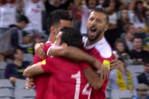 Omar Al Soma puts Syria 1-0 up!